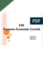 FDI Promotes Economic Growth