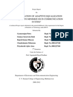IMPLEMENTATION OF ADAPTIVE EQUALIZATION TECHNIQUES TO MINIMIZE ISI IN COMMUNICATION SYSTEM(1)