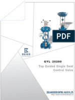 GYL-20200 Top Guided Single Seat Control Valve