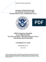 DHS CBP TSA Watchlist Users Guide
