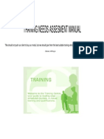 Training Needs Assesment Manual