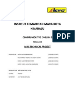 Mini Technical Project IKMKK