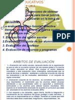 Ambitos de Evaluacion en Los Centros Educ.