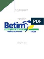 Plano Municipal de Saude de Betim