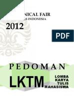 Pedoman Lomba Karya Tulis Mahasiswa Mechanical Fair UI 2012_FTUI