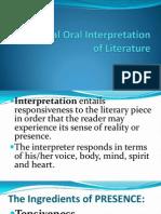 Individual Oral Interpretation of Literature