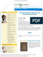 50 Great Hispanic Novels Every Student Should Read - Online College Courses | Online College Courses