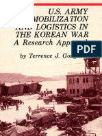 U.S. Army Mobilization and Logistics in the Korean War