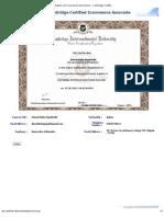 Cambridge Certificate E-Commerce Associate