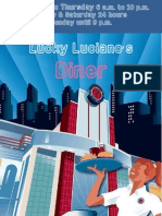 Lucky Luciano's Diner Menu