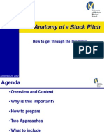 Anatomy of a Stock Pitch