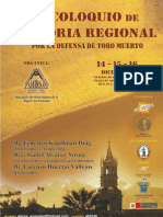 Programa III Coloquio de Historia Regional Arequipa 2011 Del 14 Al 16 Diciembre