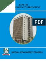 ESM 102 the Nigerian Envt