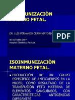 Isoinmunizacion Materno Fetal