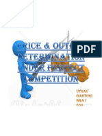 Price & Output Determination Under Perfect Competition