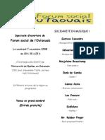 Programme Spectacle Du 7 Nov