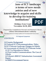 Implications of ICT Landscape Changes in Liberia