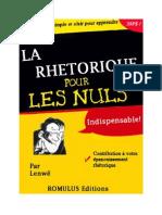 Rethorique Pour Les Nuls