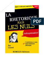 Rethorique Pour Les Nuls