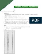 Correlacion y Regresion Ejercicios Resueltos