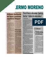 Guillermo Moreno, Crónica de un exprocurador fiscal (segunda parte)
