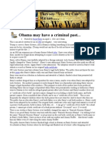 Obama May Have a Criminal Past Edited