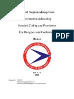 Scheduling Manual 02-15-2002