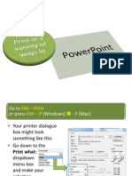 How to Print Out in Power Point