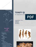 Tonify Qi - A Comparison of Herbs
