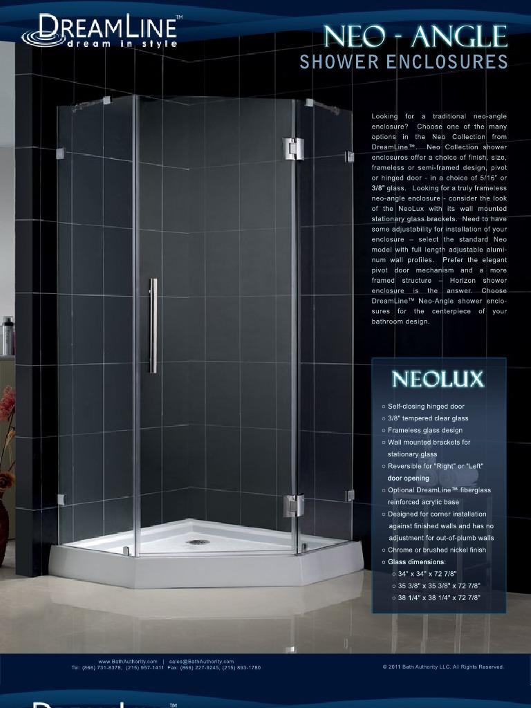 Dream Line Showers Neo Angle Enclosures