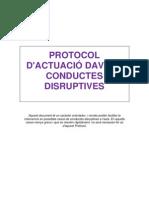 Protocol d'actuació conductes disruptives