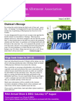 RAA Newsletter Summer 2011