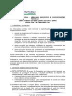 Especificações Técnicas Projeto Estrutural