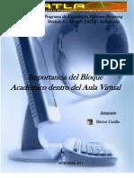 Importancia del Bloque Academico en el Aula Virtual