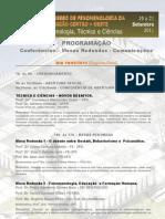 Programacao Congresso de Fenomenologia
