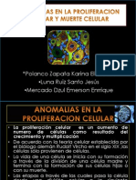 Anomalias en La Proliferacion Celular y Muerte Celular