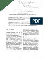 Francisco J. Varela Garcia- A Calculus For Self-Reference