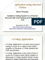 e-Voting Application using Internal Vtoken