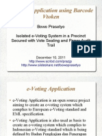 e-Voting Application using Barcode Vtoken