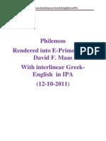 Philemon Greek English IPA 12-10-2011