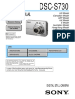 SONY DSC-S730 SERVICE MANUAL VER 1.1 2008.07 REV-1 (9-852-239-12)