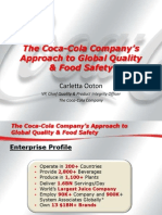 The Coca Cola Company s Approach to Global Quality and Food Safety