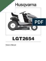 Husqvarna LGT2654 Mower Owner Manual