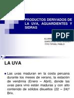 Productos Derivados de La Uva, Aguardientes y