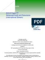 P7-Advanced Audit and Assurance (Int.)-Passcards-BPP