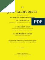 Le Juif Talmudiste - Rohling Auguste