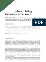 Single Plan Balancing Experiment