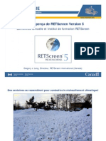 Etat Et Apercu de RETScreen Version 5