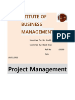 Assignment on Project Scope Management