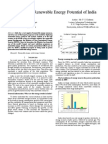A Paper on Overview of Renewable Energy Potential of India